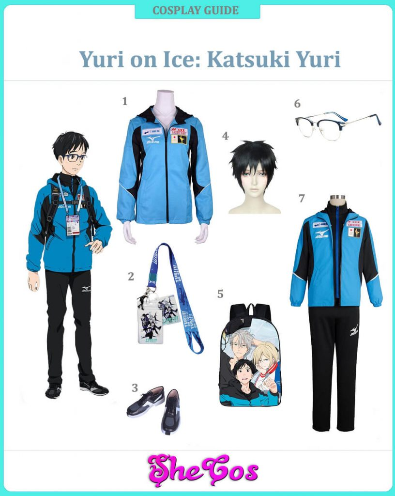 YURI On Ice Cosplay Costume Plisetsky Yurio Victor Katsuki Coat Jacket Outfits