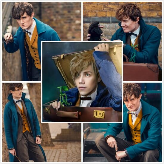 Newt Scamander from Fantastic Beasts and Where to Find Them Cosplayers