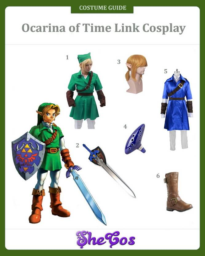 ocarina of time link cosplay guide