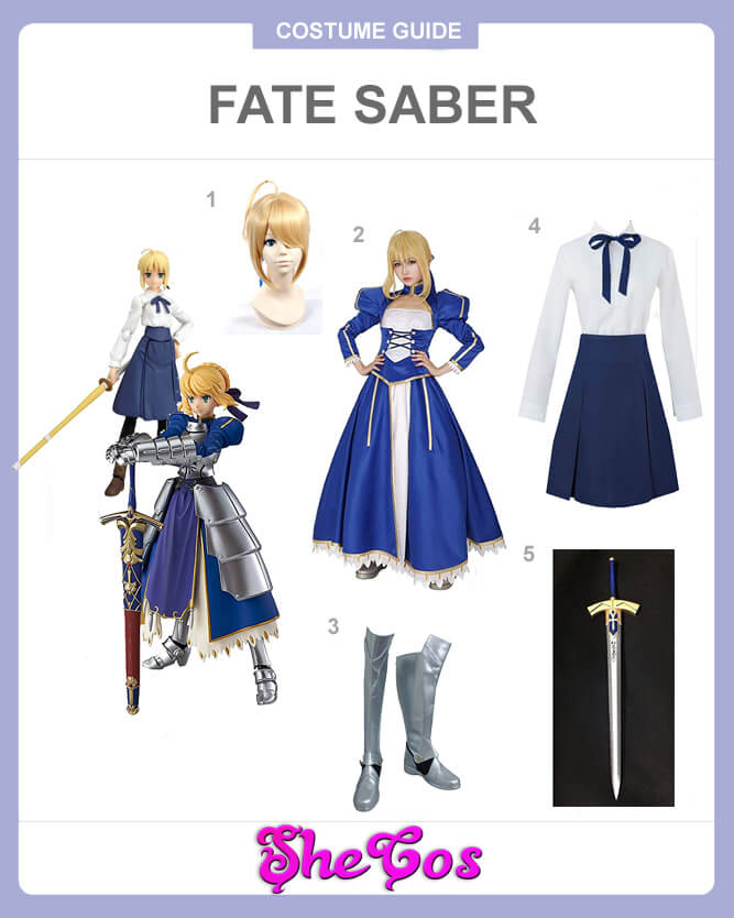 Fate stay night saber cosplay guide