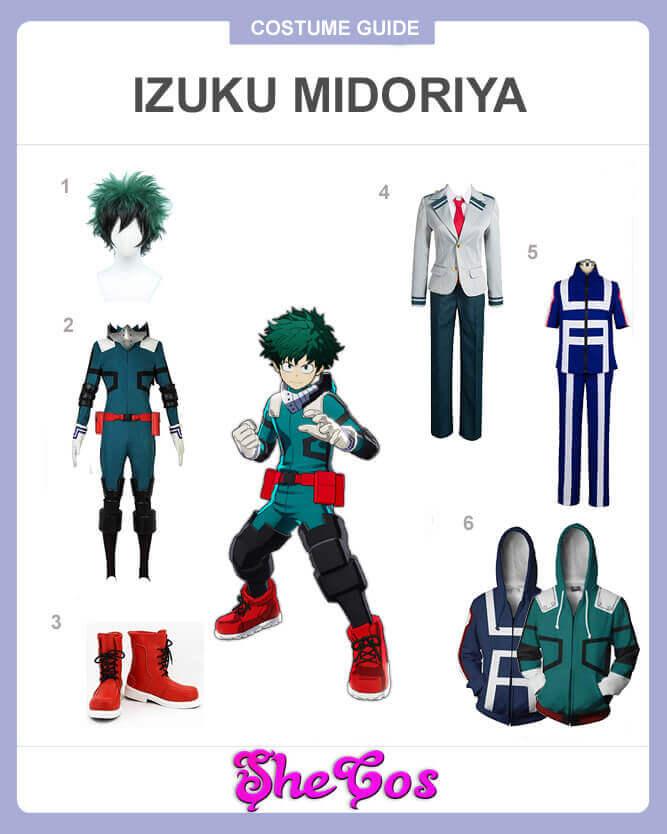 How To Cosplay Izuku Midoriya Of My Hero Academia Shecos Blog