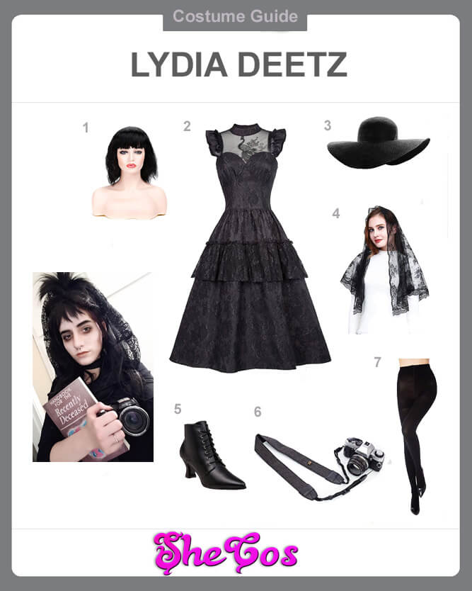 Lydia Deetz black dress cosplay guide
