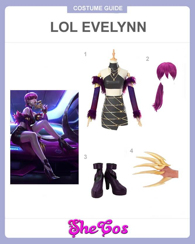 LOL evelynn cosplay guide