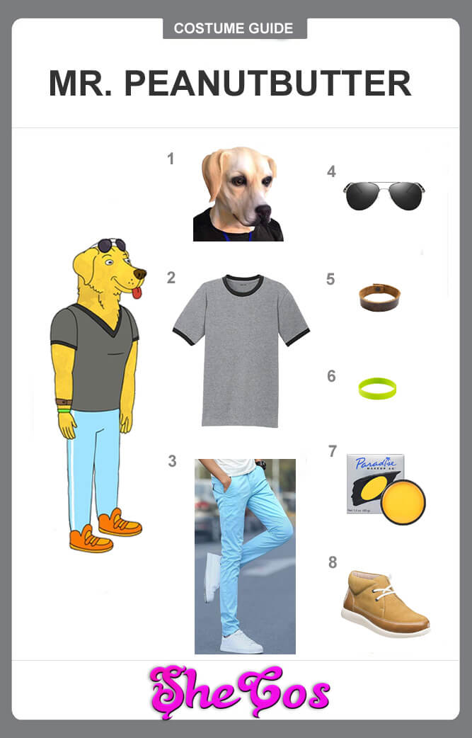 Mr. Peanutbutter costume guide