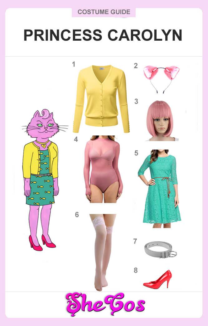 bojack horseman Princess Carolyn costume guide