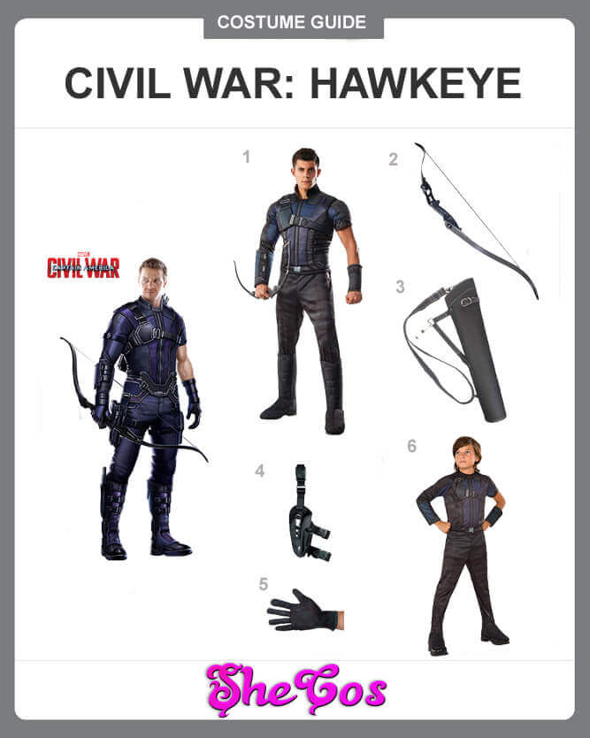 captain america civil war hawkeye costume guide
