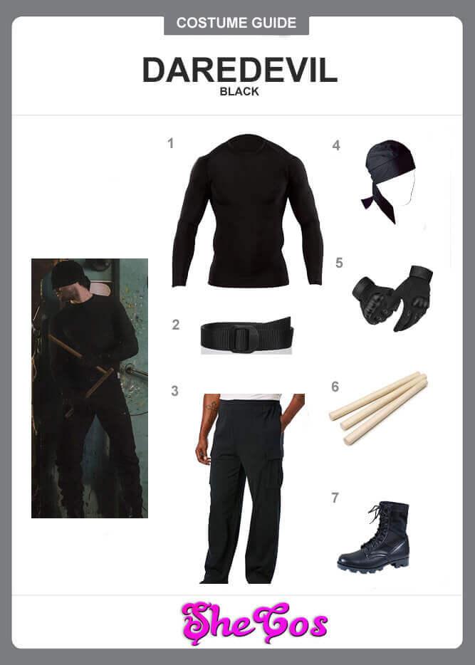 daredevil black suit guide
