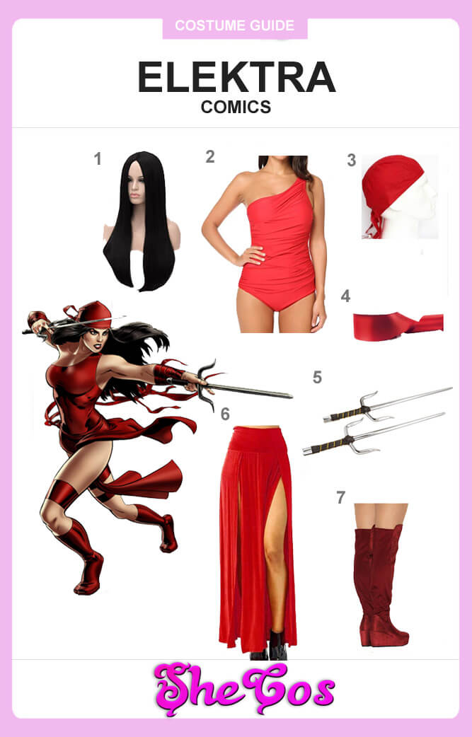 marvel elektra cosplay guide