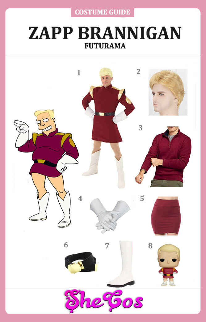 Futurama zapp brannigan costume guide