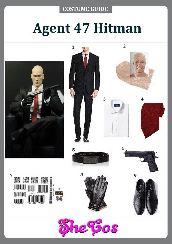 Agent 47 Hitman costume ideas