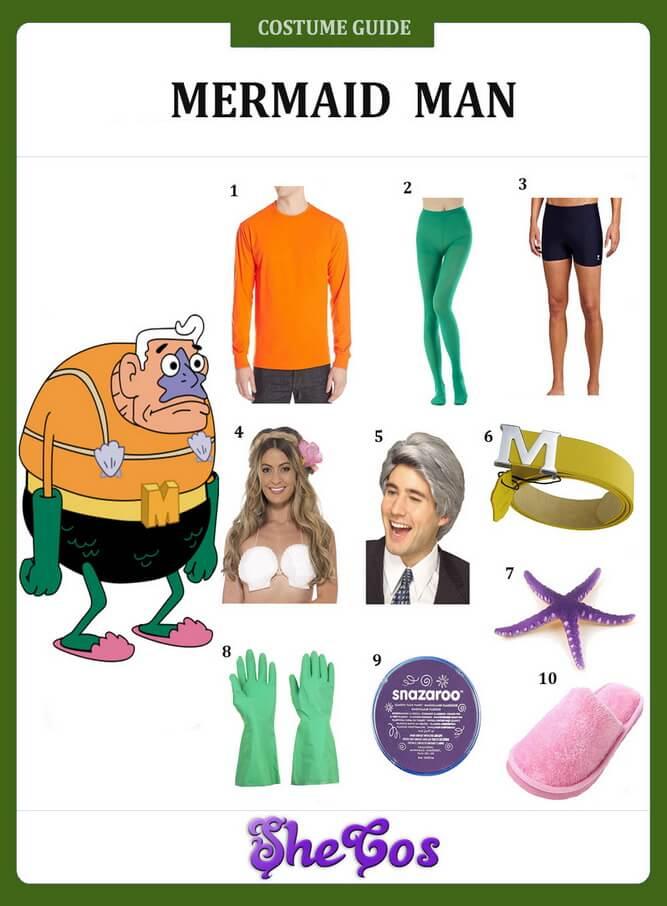 Mermaid Man costume ideas
