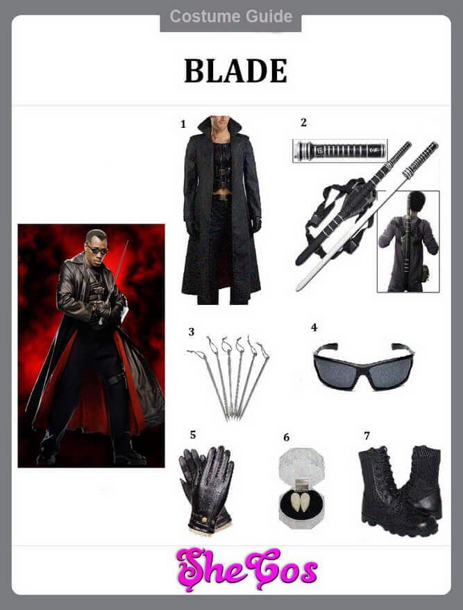 blade costume guide