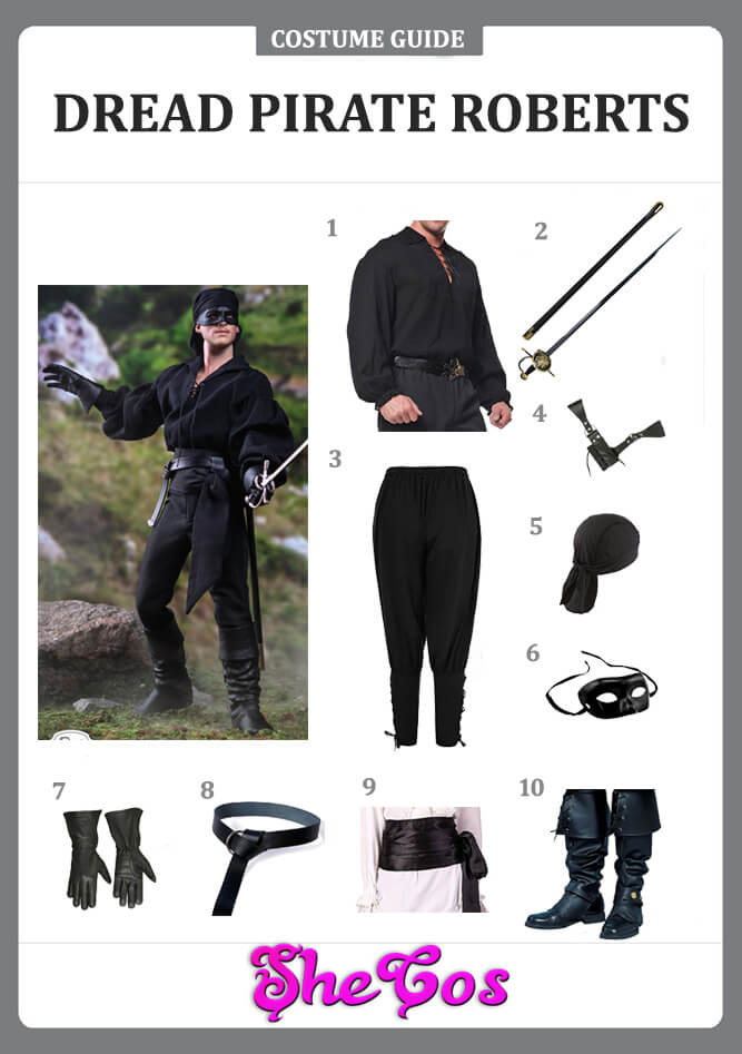 dread pirate roberts costume guide
