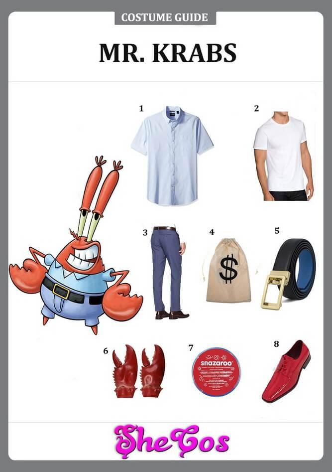 mr krabs costume diy