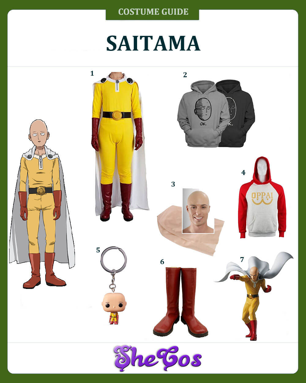 One-Punch Man Saitama cosplay ideas
