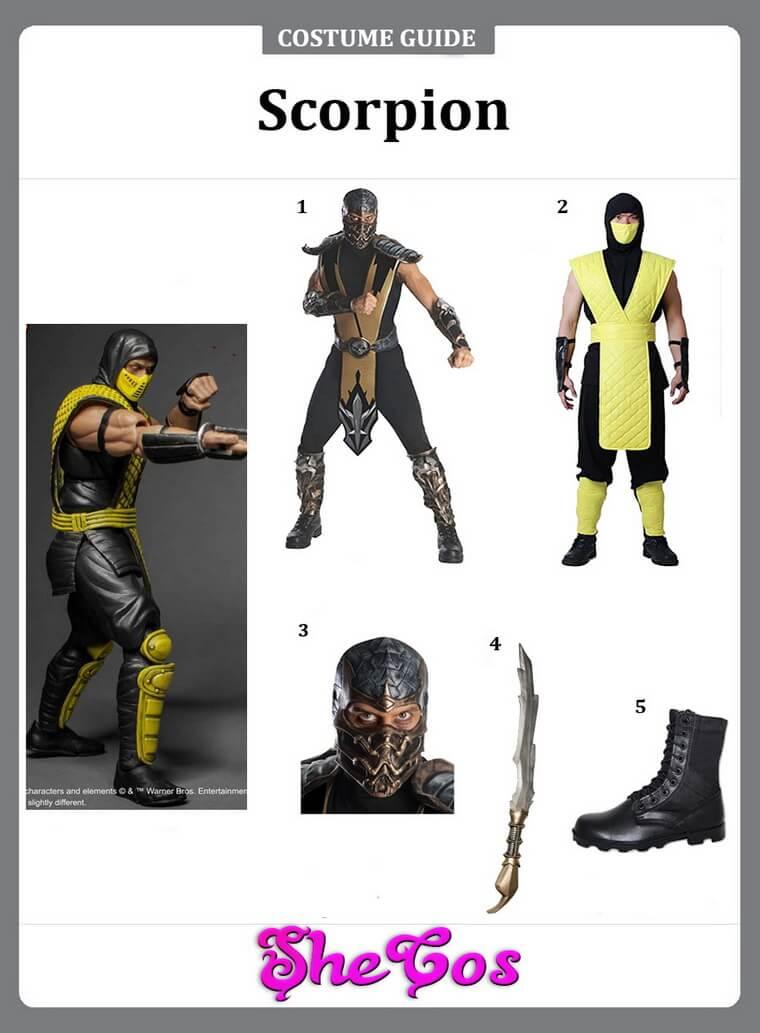 Scorpion costume ideas