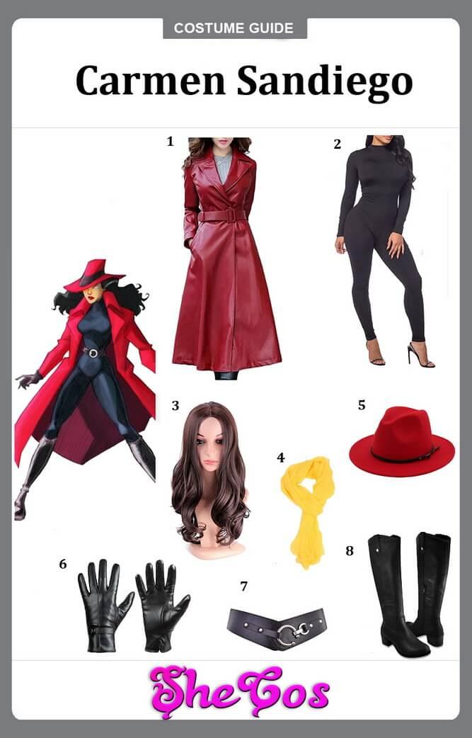 carmen sandiego costume diy