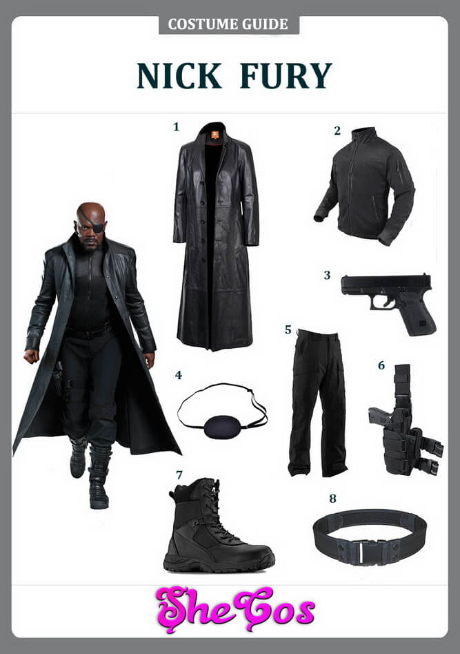 nick fury costume ideas