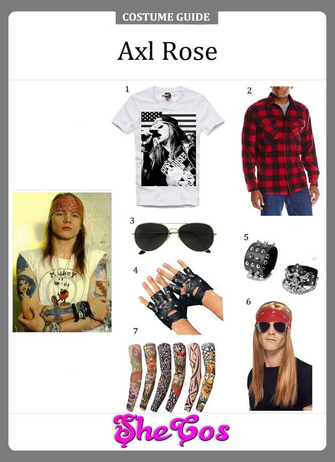 axl rose costume diy