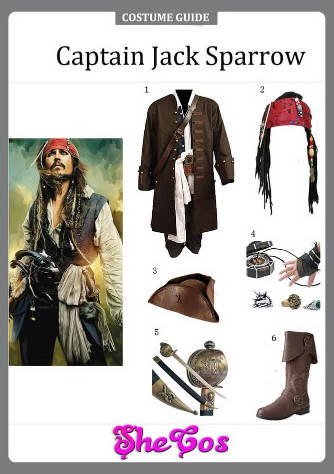 captain jack sparrow costume diy