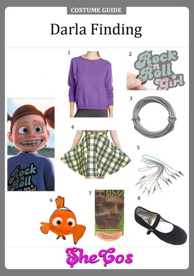 darla finding nemo costume ideas