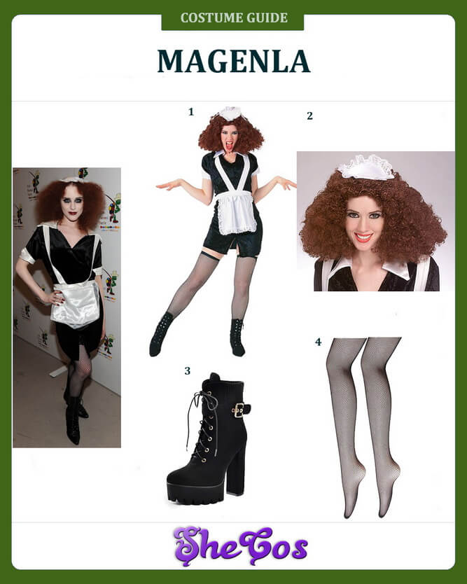 magenta rocky horror costume diy