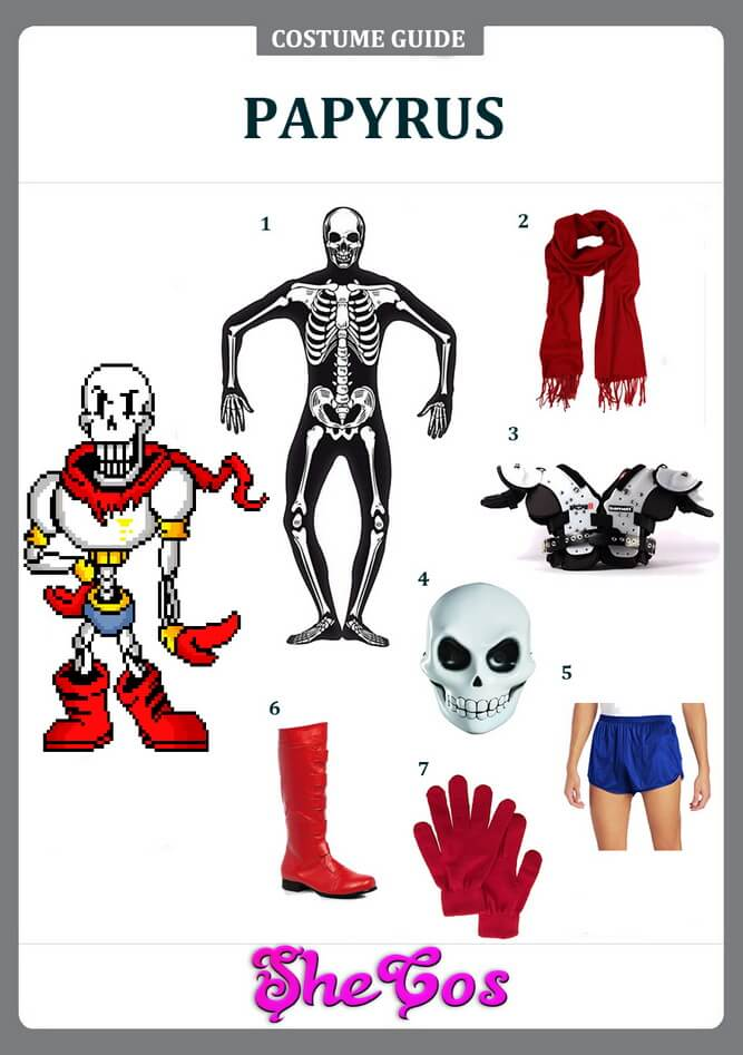 How to DIY Undertale Papyrus Costume | SheCos Blog