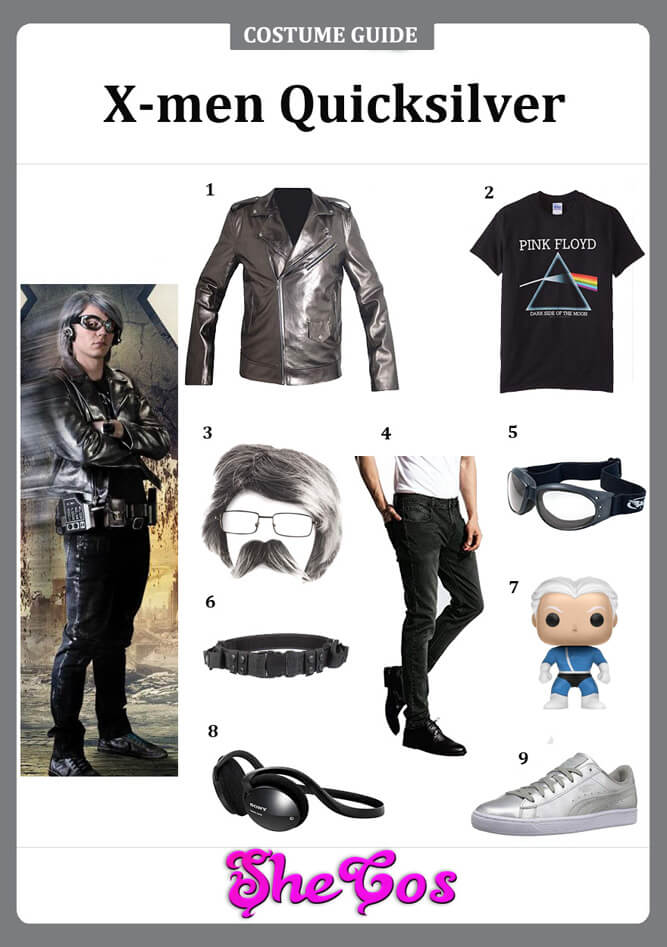 x men quicksilver costume diy