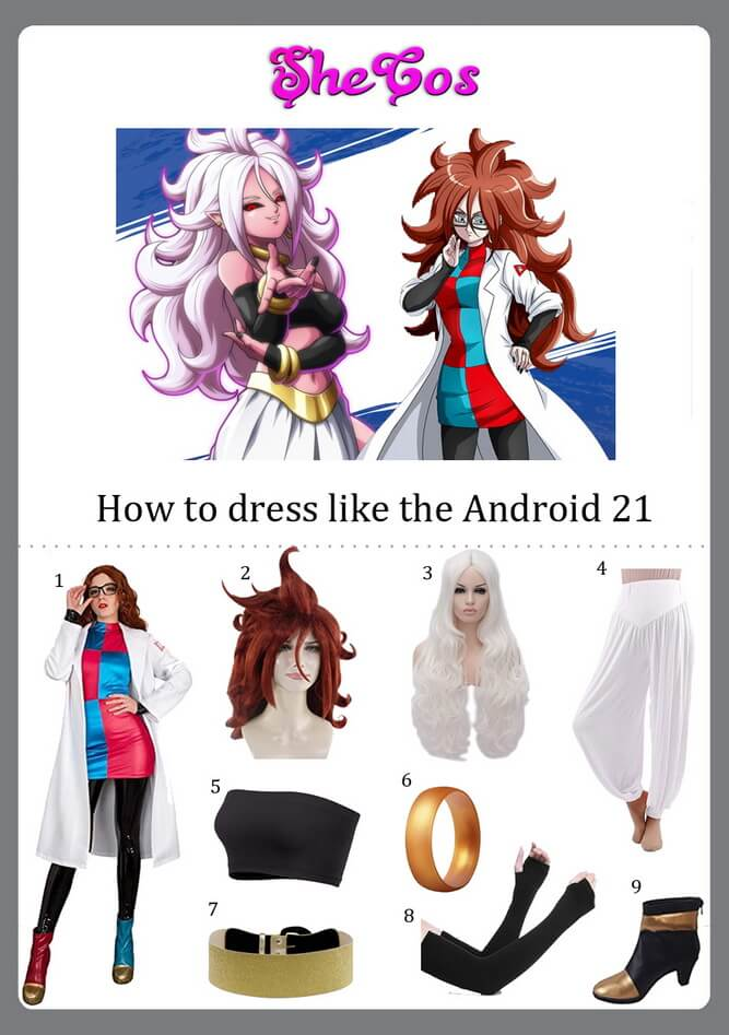 Android 21 cosplay ideas
