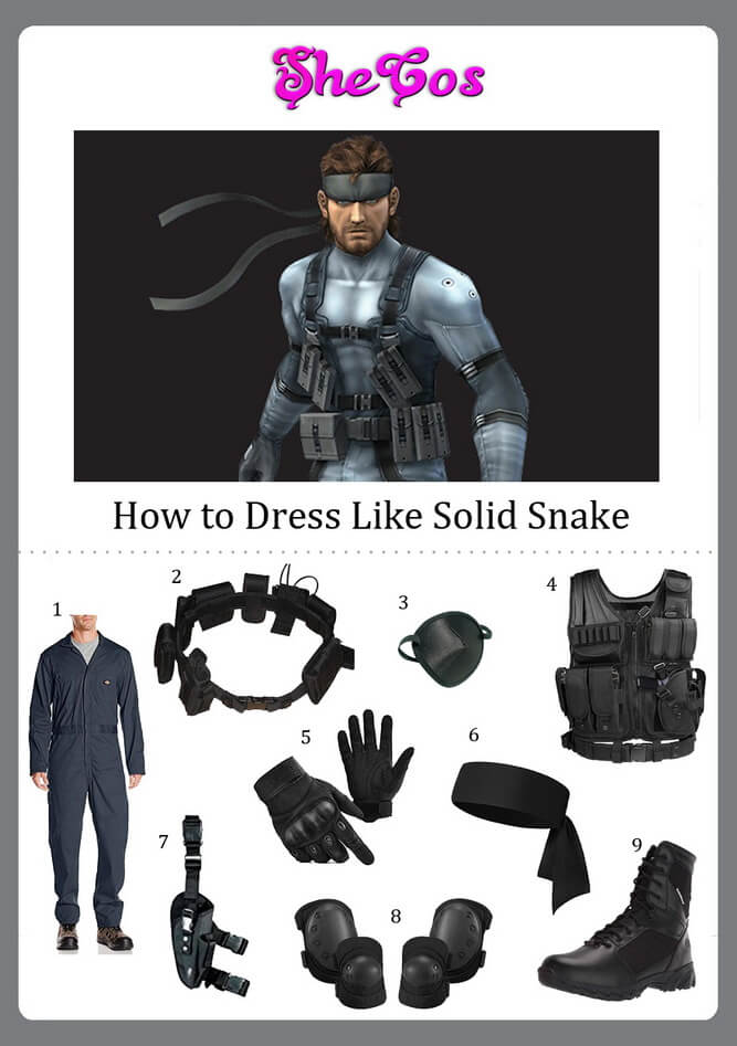Solid Snake costume diy
