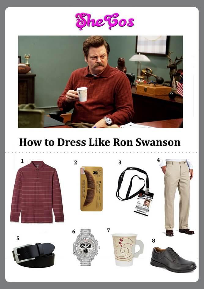 ron swanson costume ideas