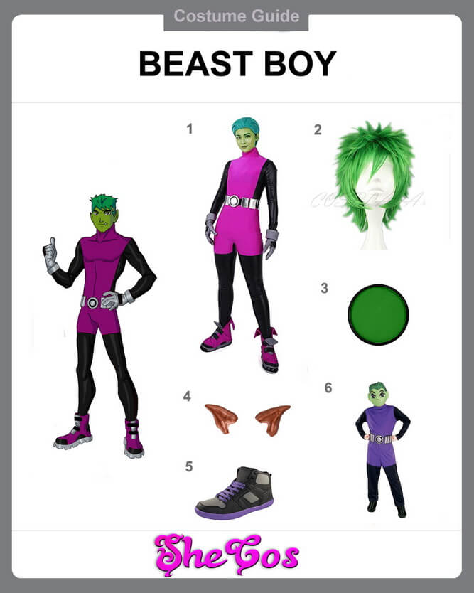 beast boy costume diy