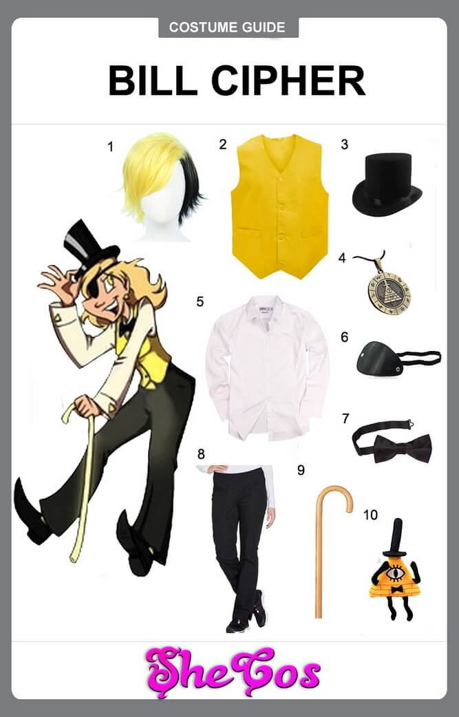Bill Cipher cosplay diy