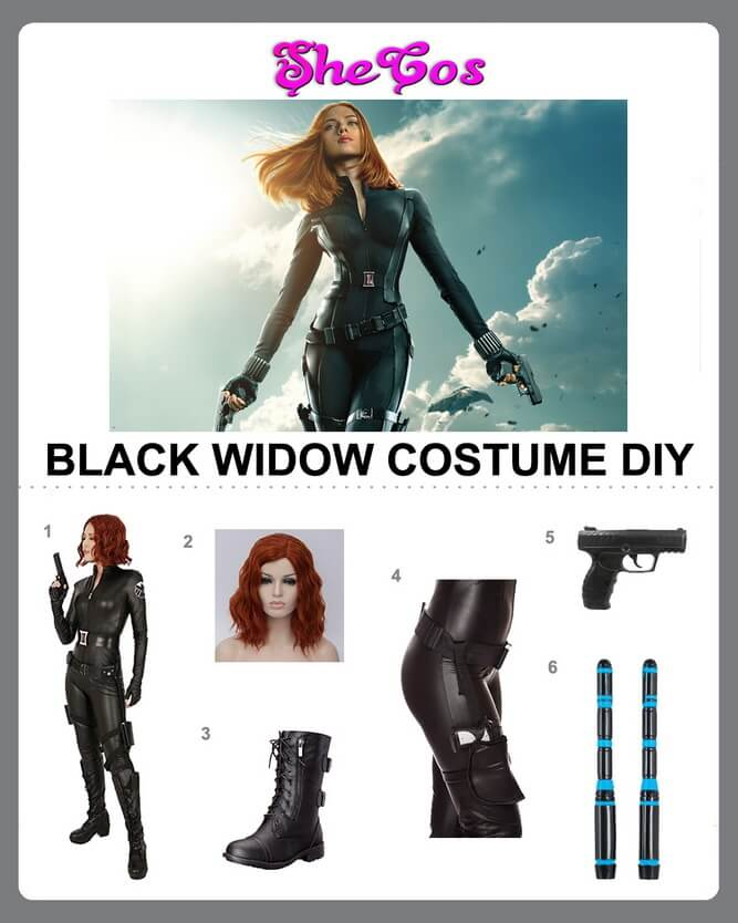 black widow cosplay diy