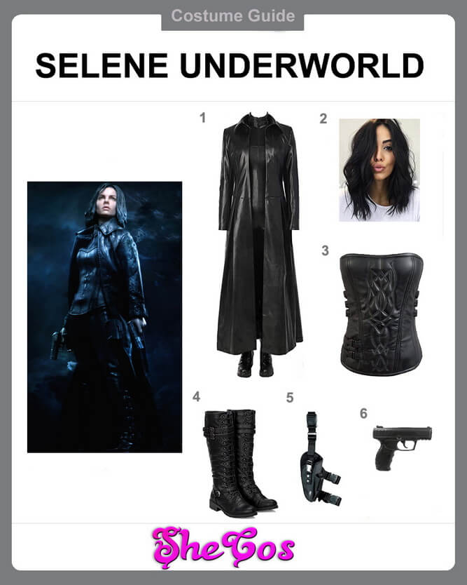 selene underworld costume diy