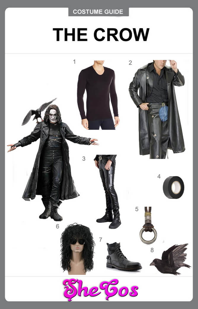 the crow costume diy