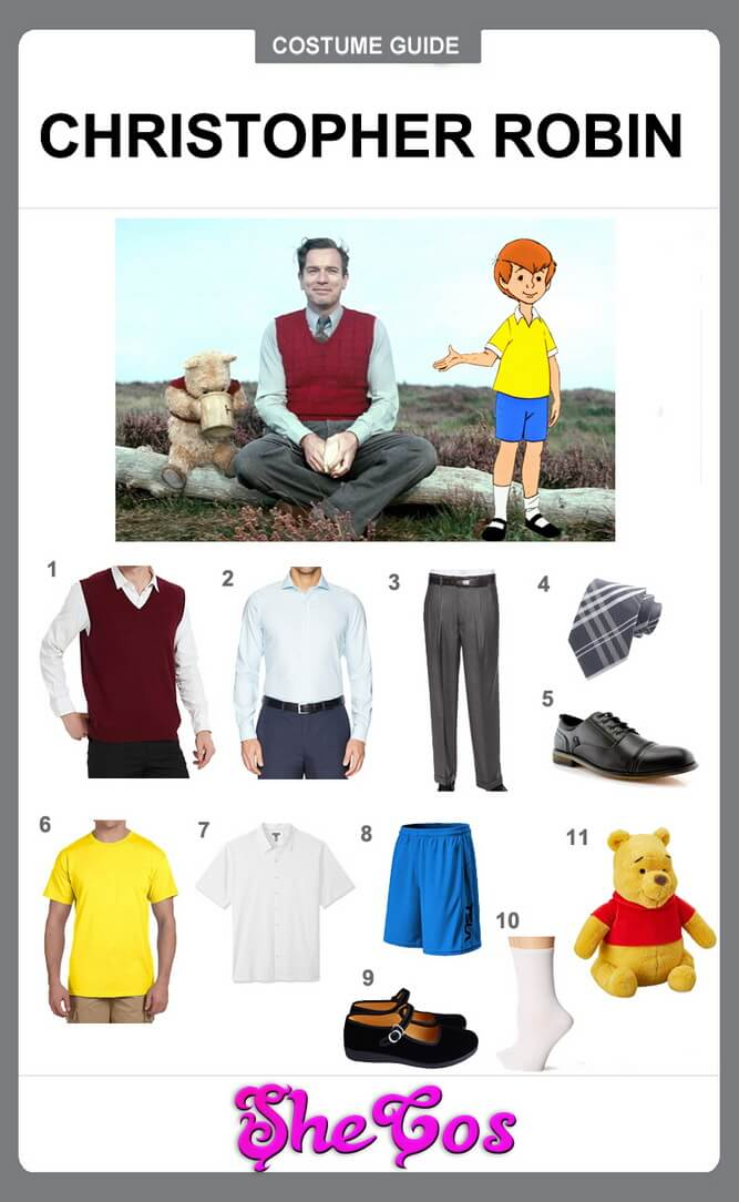 christopher robin costume diy
