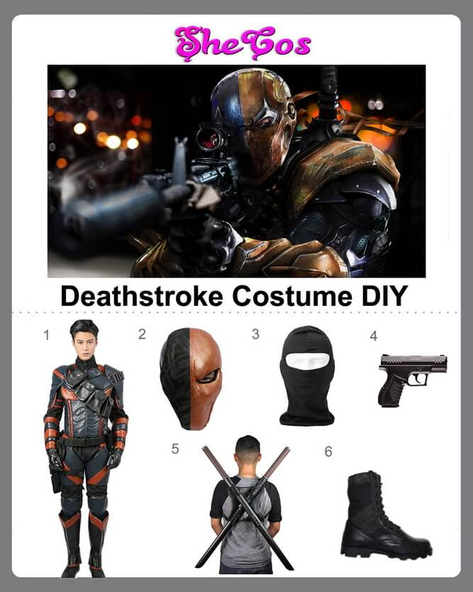 dc deathstroke costume diy