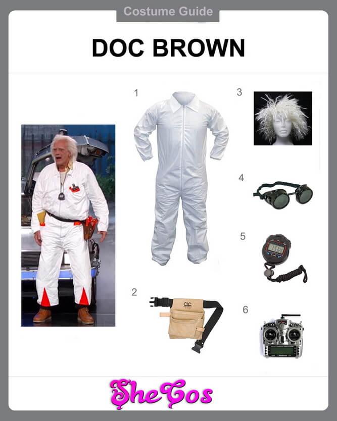 doc brown costume diy