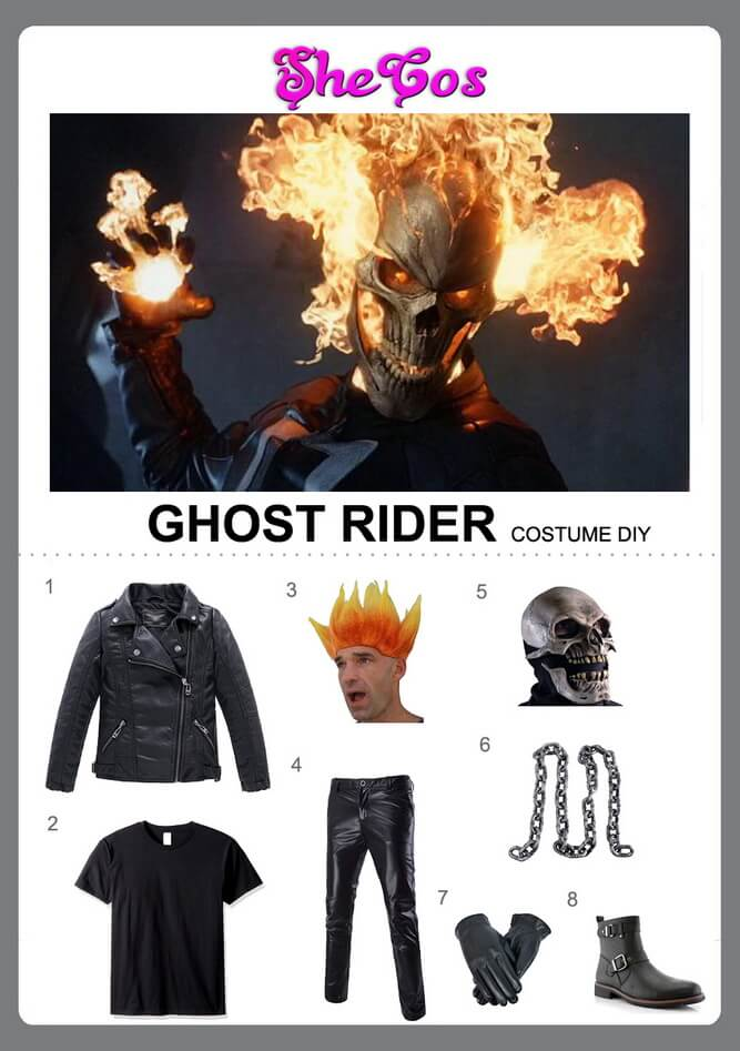 ghost rider costume diy