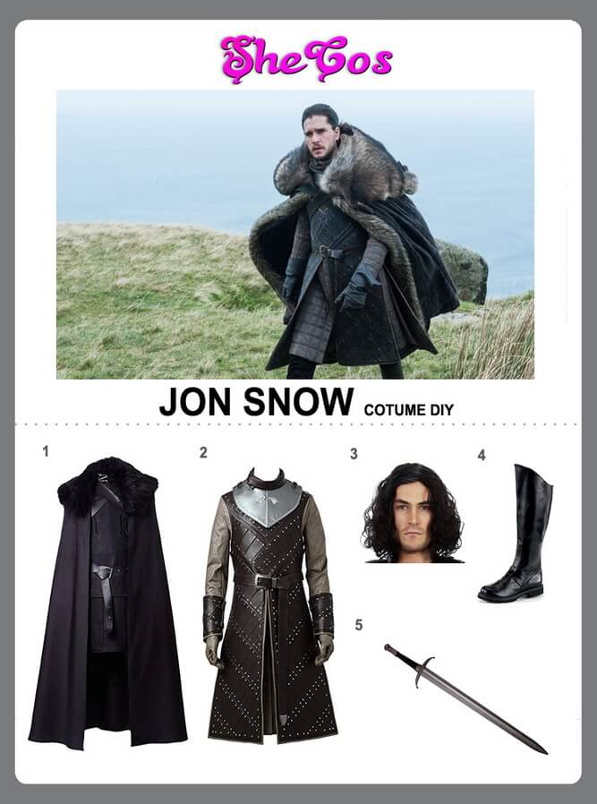 jon snow costume diy