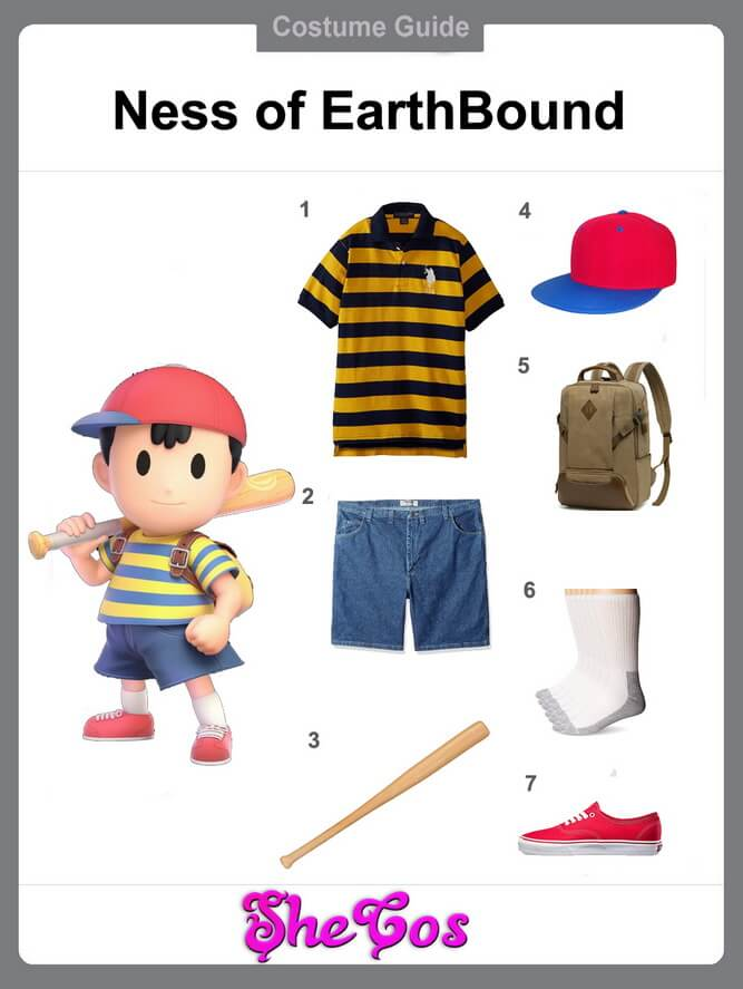 ness cosplay diy