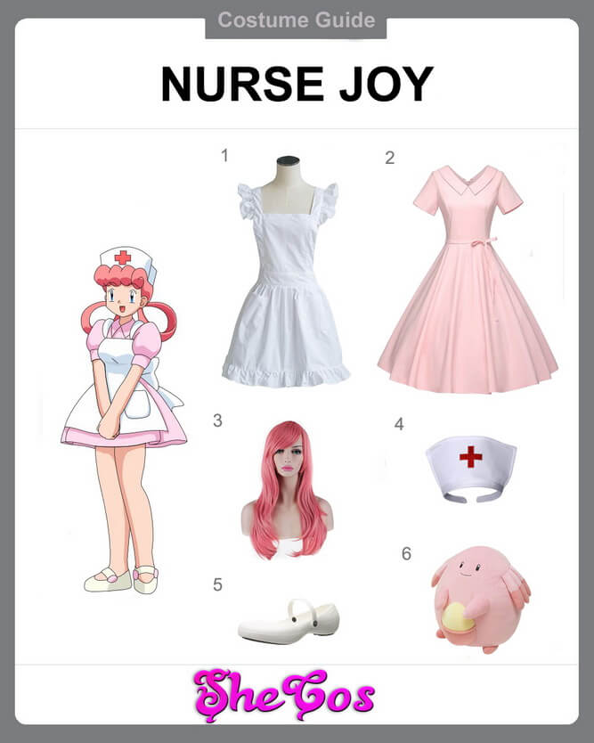 Anime New Pokemon Nurse Joy Cosplay Costume Dress