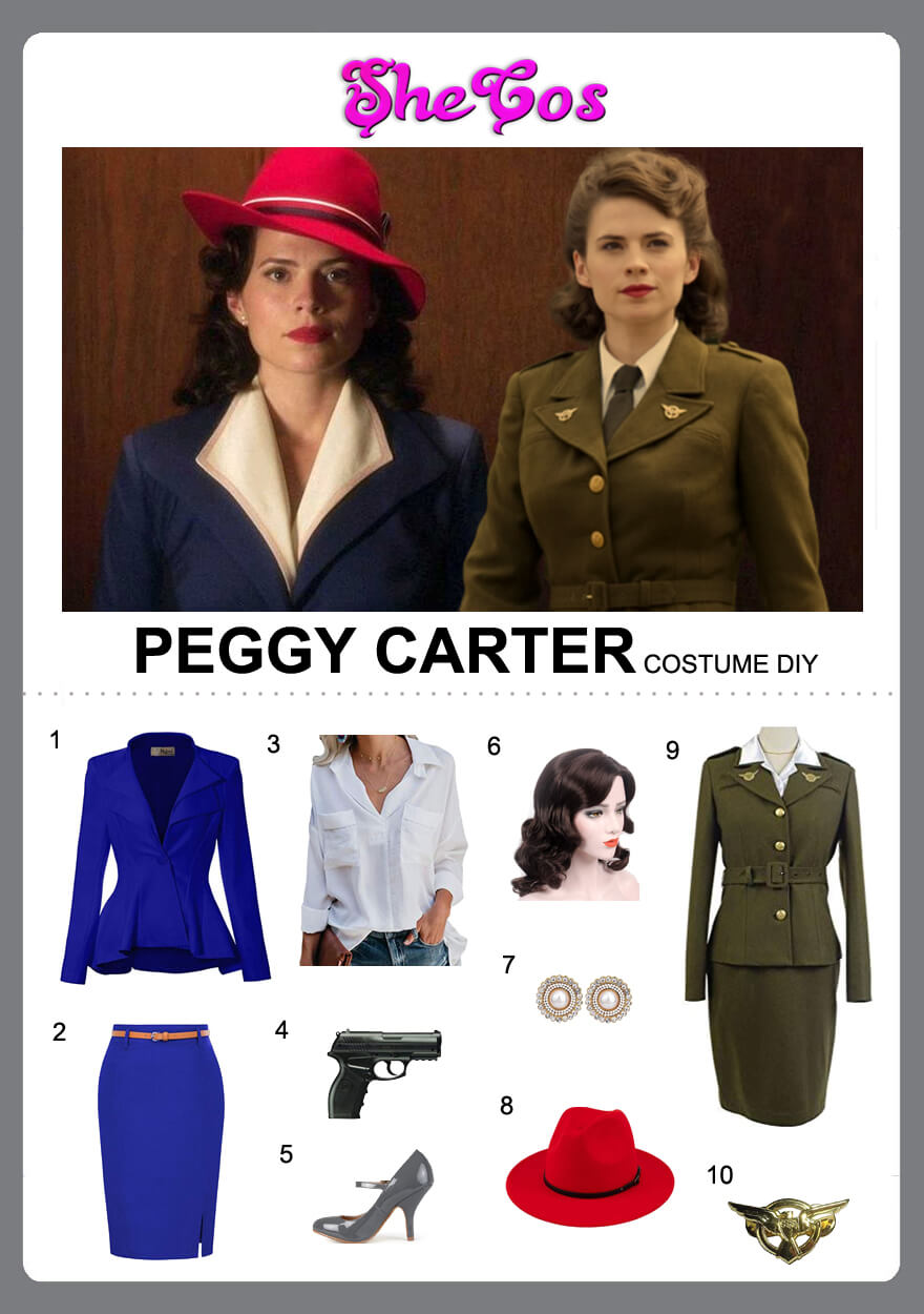 peggy carter costume diy
