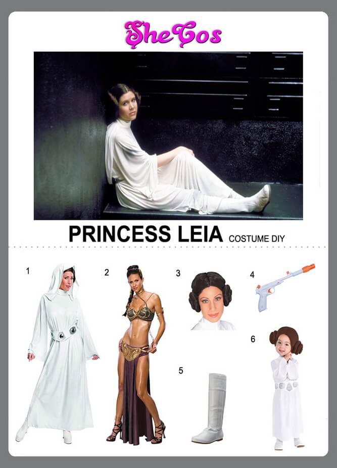 The Complete Princess Leia Costume Ideas From Star Wars Shecos Blog