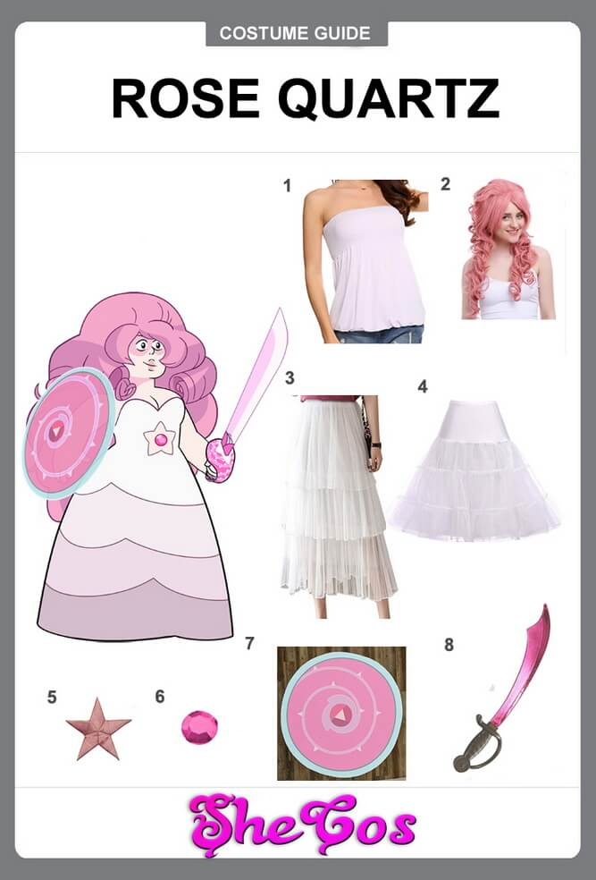 rose quartz cosplay diy