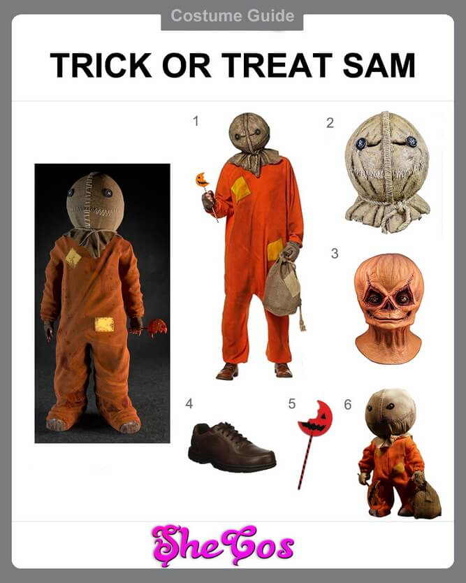 sam trick r treat costume diy