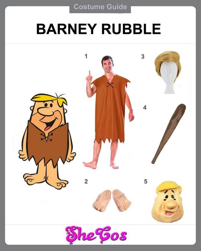 barney rubble costume diy