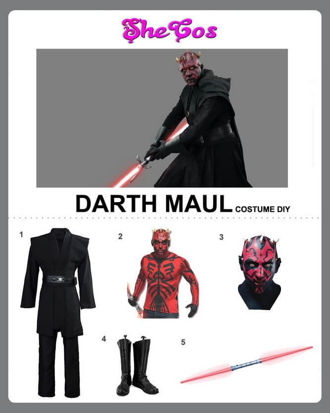 darth maul costume diy
