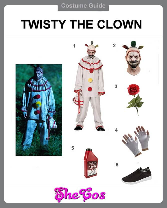 twisty the clown costume diy
